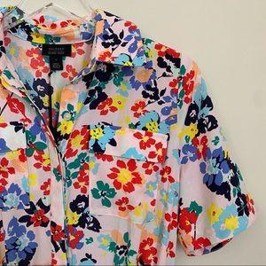 HALOGEN x ATLANTIC PACIFIC floral button dress S